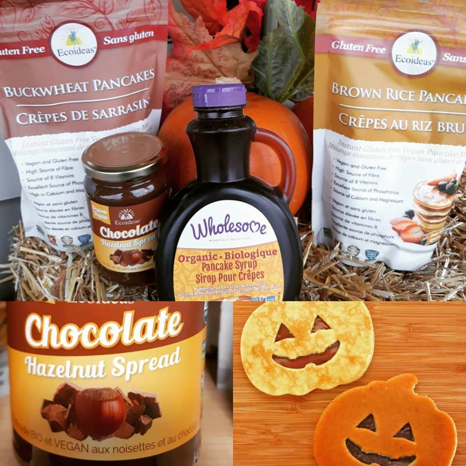 Your spooky Halloween breakfast is covered! Pancake mixes, syrup and a yummy Hazelnut spread!