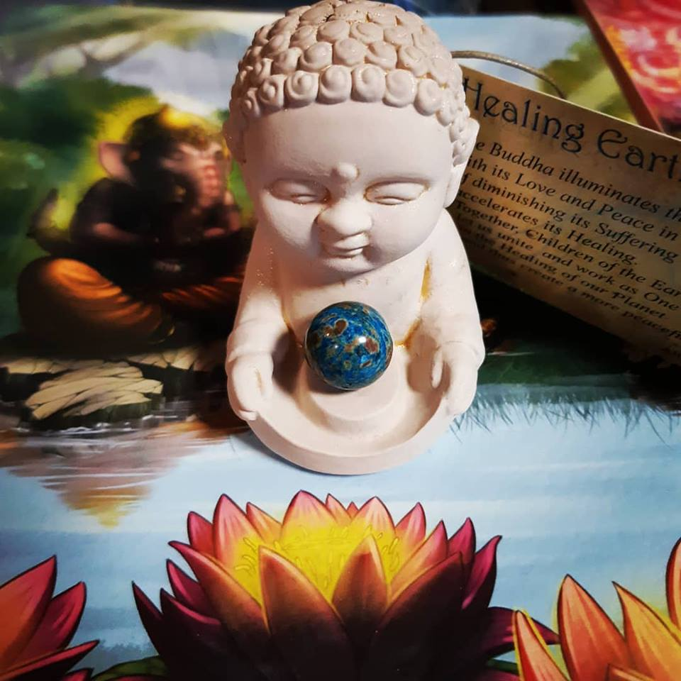 This wee Healing Earth Buddha illuminates the Earth with love and peace!